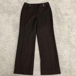 WHBM Petite Wide Leg Career Tweed Pants